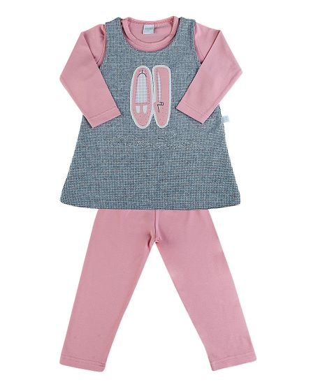 Vestido-Infantil-Malha-Pied-de-Poule-e-Cotton-Sapatinho-Rosa-3515