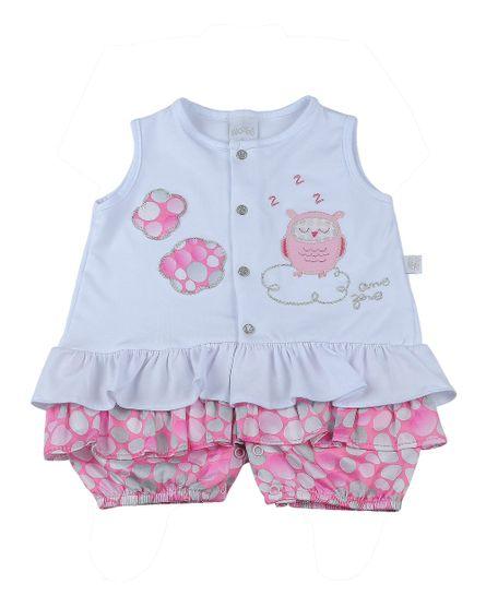 Macacao-Bebe-Cotton-Estampado-Bolas-Corujinha-Pink-921