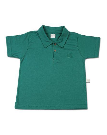 Camiseta-Infantil-Meia-Manga-Gola-Reta-Verde-24602