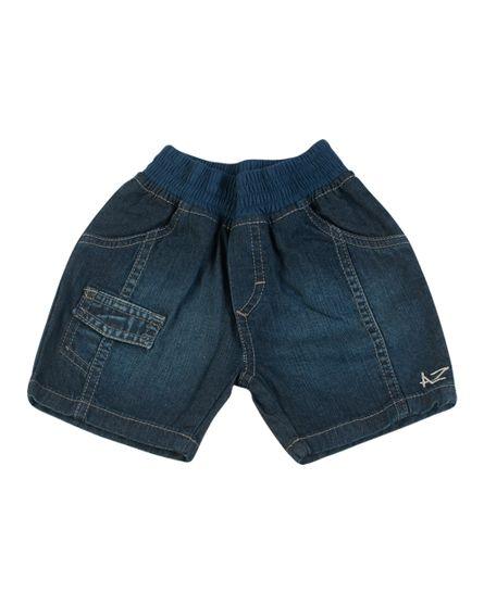 Shorts-Indigo-Cos-de-Malha-com-Elastico-Sobretinto