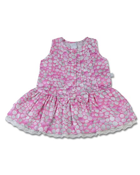 Vestido-Infantil-Cetim-de-Algodao-Estampado-Bolas-Pink-3966