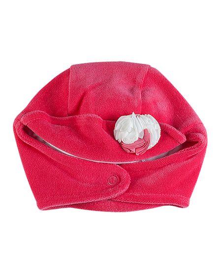 Touca-Bebe-Plush-Flores-Aplicadas-10445-Pink-10445