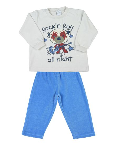 Pijama-Infantil-de-Malhao-Ceramic-e-Plush-Rock-n-Roll-Natural-7612