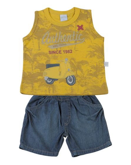 Conjunto-Bebe-Flame-Estampado-e-Indigo-Authentic-Since-1982-Amarelo-1985