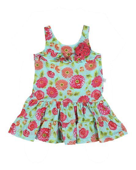 Vestido-Malha-Estampada-Floral-Digital-Turquesa