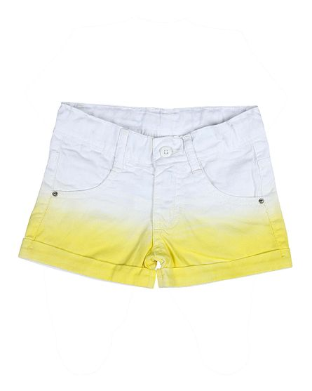 Shorts-Feminino-de-Sarja-Tinturada-Amarelo