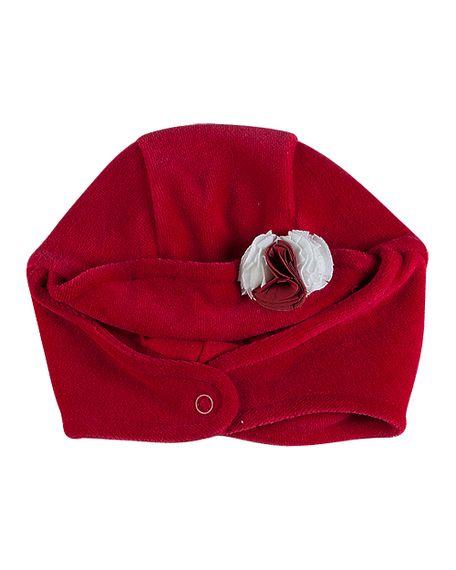 Touca-Bebe-Plush-Flores-Aplicadas-Vermelha-10445