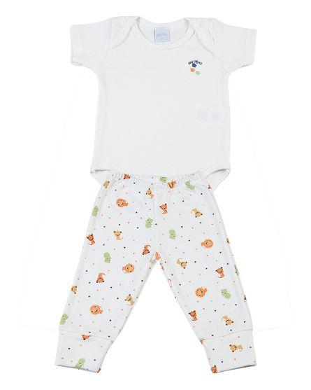 Pijama-Bebe-2-Pecas-Suedine-Estampado-Bichinhos-Laranja-7108