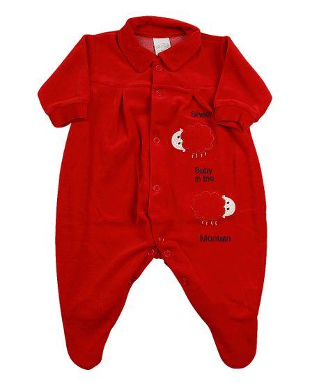 Jogo-Saida-de-Maternidade-Plush-Sheep-Baby-Vermelho-12001