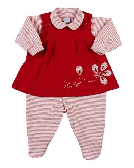 Macacao-Vestido-Bebe-Suedine-Cotton-Listrado-Flor-Vermelho-11806