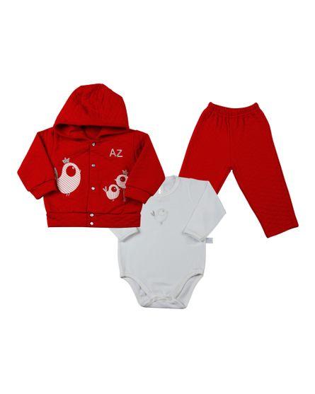 Conjunto-de-Bebe-Matelasse-e-Cotton-Passaros-Vermelho-13501