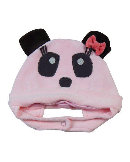 Touca Bebê Plush Ursinha Panda 19204 - Rosa M