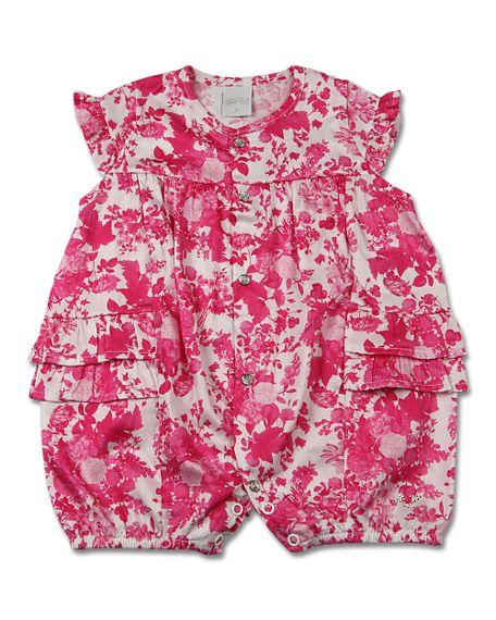 08963e1585 Macacão Bebê Cetim Estampado Digital Floral Unicolor - anozero