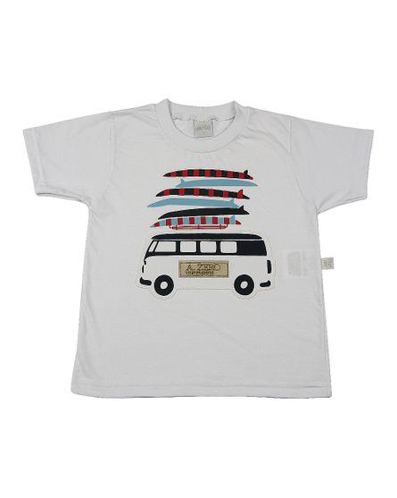 Camiseta-Infantil-meia-Malha-Kombi-e-Pranchas-Branco-24606