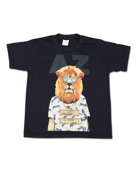 Camiseta-Infantil-Meia-Malha-Leao-Marinho-24607
