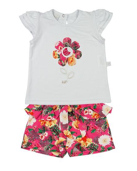 Roupa-Infantil-Conjunto-Cotton-e-Malha-Estampa-Digital-Tropical-Flor-com-Joaninha-Pink-23304