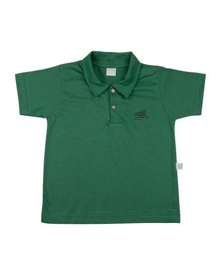 Camiseta-Infantil-Meia-Malha-Gola-Basica-Verde-24619
