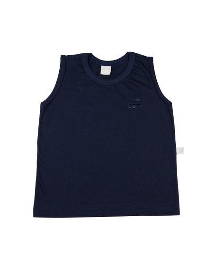 Camiseta-Infantil-Meia-Malha-Manga-Cavada-Basica-Bordada-Marinho-24621
