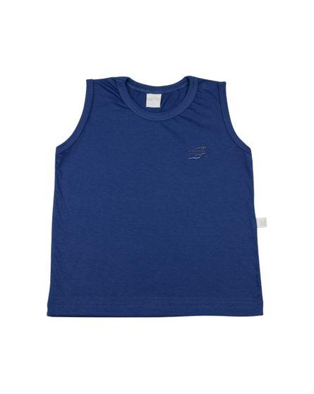 Camiseta-Infantil-Meia-Malha-Manga-Cavada-Basica-Bordada-Azul-Jeans-24621