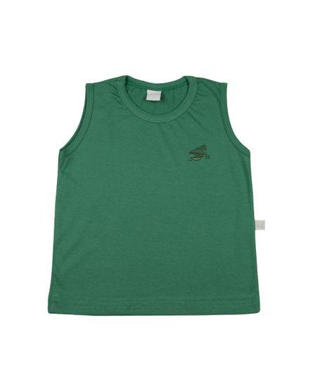 Camiseta-Infantil-Meia-Malha-Manga-Cavada-Basica-Bordada-Verde-24621