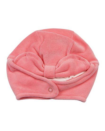 Touca-Bebe-Plush-Basica-com-Protetor-de-Orelhinha-Rose-19210