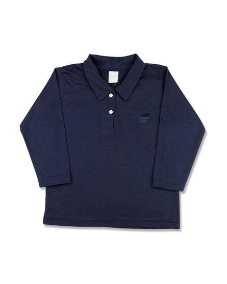 Camiseta-Infantil-Manga-Longa-Gola-de-Malha-Marinho-24612