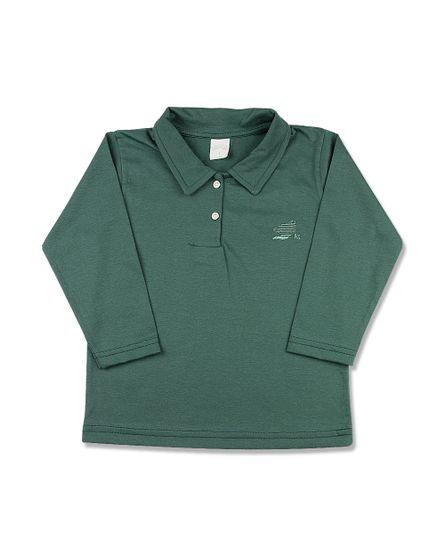 Camiseta-Infantil-Manga-Longa-Gola-de-Malha-Verde-24612