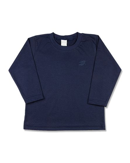 Camiseta-Infantil-Meia-Malha-Basica-Manga-Longa-Marinho-24613