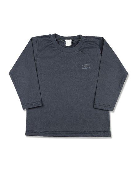 Camiseta-Infantil-Meia-Malha-Basica-Manga-Longa-Grafite-24613