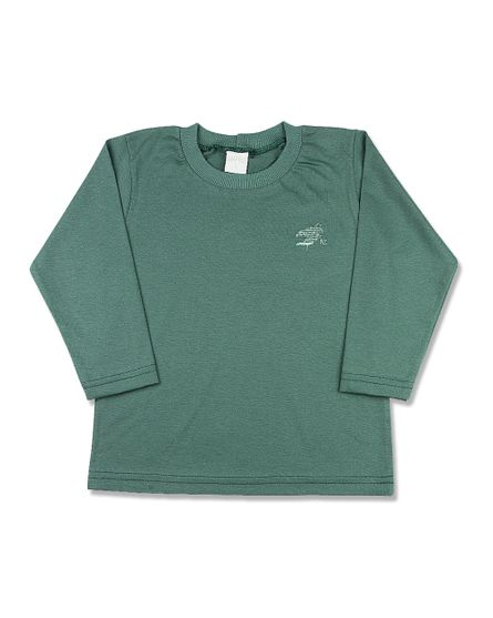 Camiseta-Infantil-Meia-Malha-Basica-Manga-Longa-Verde-24613