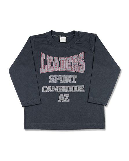 Camiseta-Infantil-Meia-Malha-Leaders-Sport-Grafite-24614