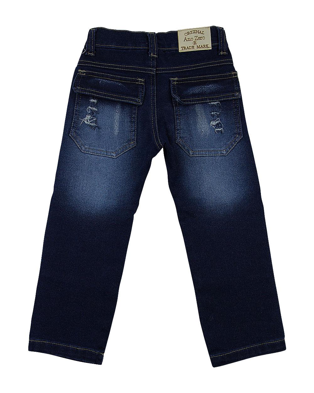 Calça Masculina Moletom Indigo - Foxton - Azul - Shop2gether