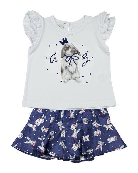 Roupa-Infantil-Conjunto-Cotton-e-Tricoline-Tarsila-Estampa-Coelho-Marinho-23306