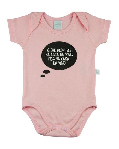 Body Bebê Suedine Algodão Frases O Que Acontece Na Casa Da Vovó Rosa