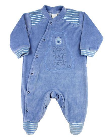 Macacao-Bebe-Plush-Listrado-Ursinho-Free-Hugs-Here-Azul-11243