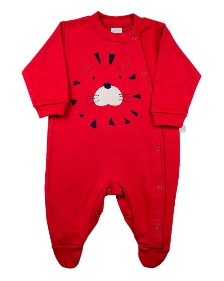 Macacao-Bebe-Suedine-Silk-e-Bordado-Leao---Vermelho