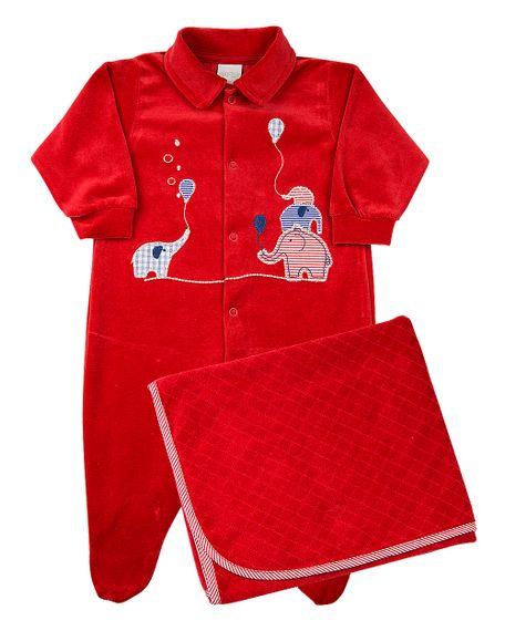 Saida-de-Maternidade-Bebe-Plush-Liso-e-Trabalhado-Escamas-Elefantinhos-Vermelho-12007