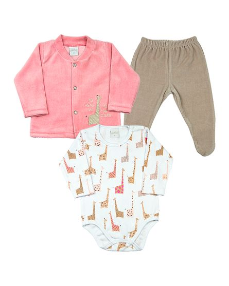 Roupa-Bebe-Conjunto-Plush-e-Suedine-Estampado-Girafas-The-Clouds-Salmao-18204