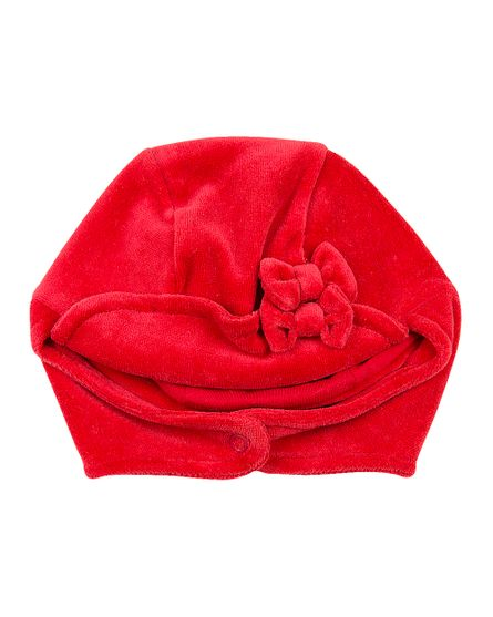 Roupa-Bebe-Touca-Plush-com-Protetor-de-Orelhinha-e-Lacinho-Vermelho-19221