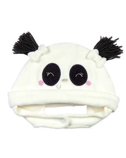 Touca-Bebe-Plush-Ursinha-Panda-Natural-19230