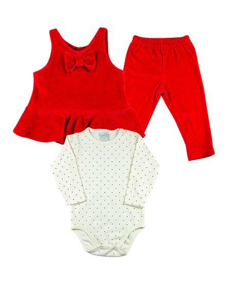 Roupa-Bebe-Conjunto-Veludo-Ondule-Plush-e-Suedine-Lacinho-Vermelho-13700