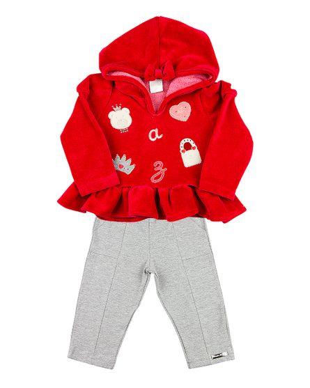 Roupa-Bebe-Conjunto-Plush-e-Cotton-Ursinha-e-Bolsa-Vermelho-13404