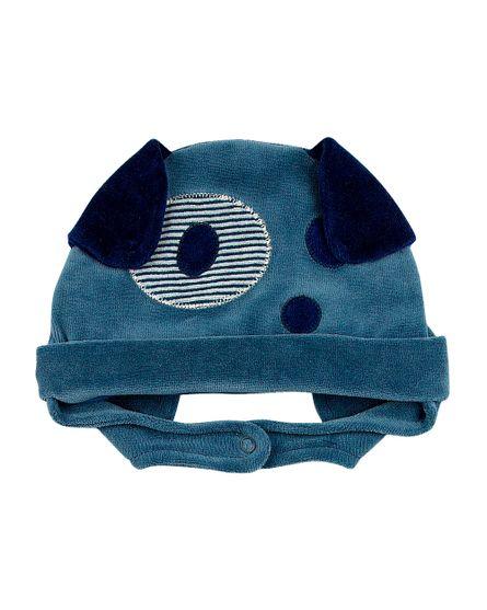 Touca-de-Bebe-Plush-Cachorrinho-Bulldog-Azul-Jeans-19237