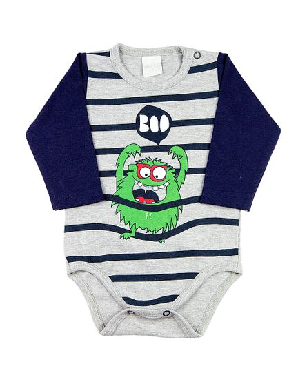 Body-Bebe-Cotton-Monstro-Boo-Grafite-16305