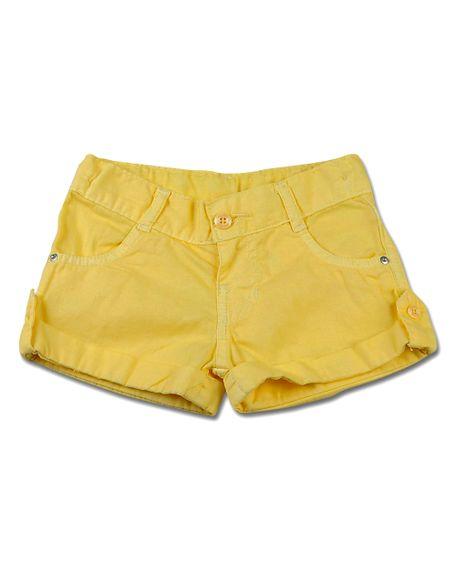 Shorts-Infantil-de-Tela-Tinturada-Amarelo-5717