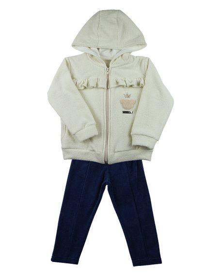 Roupa-Infantil-Conjunto-Soft-Glace-Plush-Ursinha-com-Coroa-Natural-23510