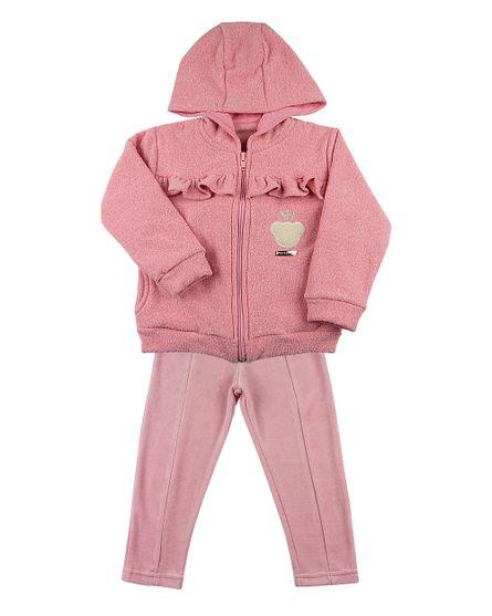 Roupa-Infantil-Conjunto-Soft-Glace-Plush-Ursinha-com-Coroa-Rosa-23510