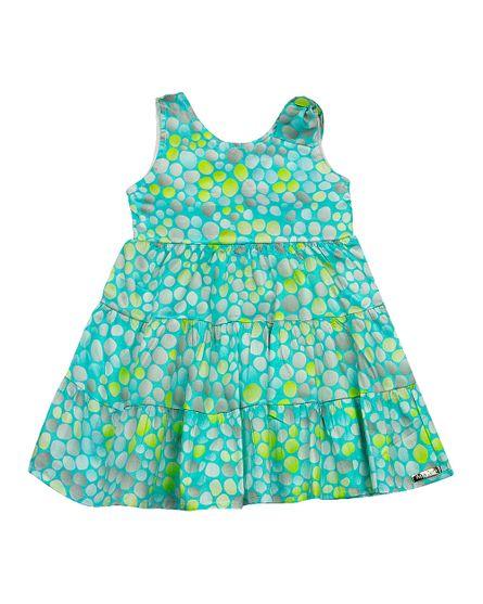 Vestido-Infantil-Cetim-Vilaflor-Bolinhas-Coloridas-Turquesa-23700