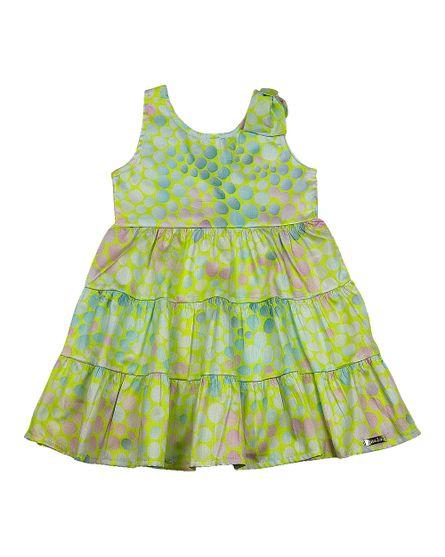 Vestido-Infantil-Cetim-Vilaflor-Bolinhas-Coloridas-Verde-23700