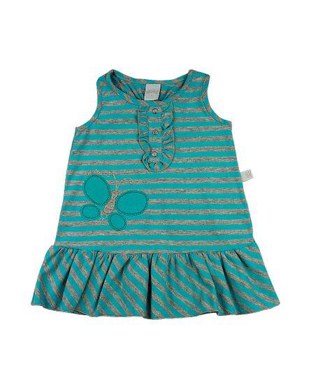 Vestido-Infantil-Cotton-Listrado-Coloratus-Borboletas-Turquesa-23805